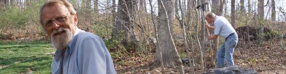 Dwayne at JMU arboretum