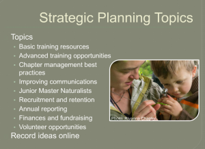 strategic planning topics