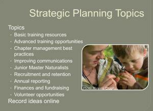 strategic planning topics