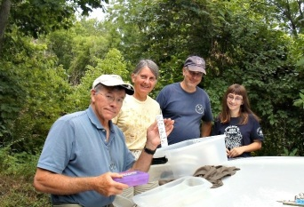 Our sampling crew: Whit, Ann, Chris and Kaylee.