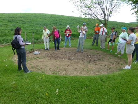 2015 Training Class field trip to Cooks Creek Arboretum included a visit to the HMN Pollinator site here.