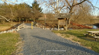Entrance to Bridgewater's Cooks Creek Arboretum