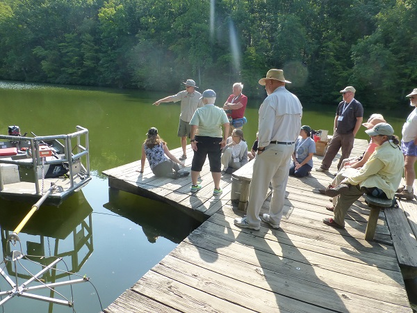 Paul leading the session on Freshwater Fish Ecology