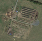 Aerial view of Black Bear Composting industrial scale operation