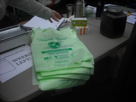Compostable bags for collecting kitchen scraps