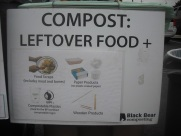 Charlottesville compost bin sign