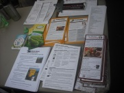 Composting related flyers distributed at the Charlottesville City Market