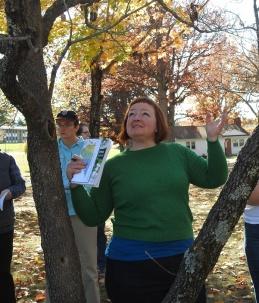 Mary Gatling-Finks, Cohort V, studies a tree