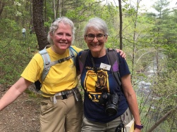 Elaine and Peggy on the North River Gorge trail. Photo from Elaine's Flickr page.