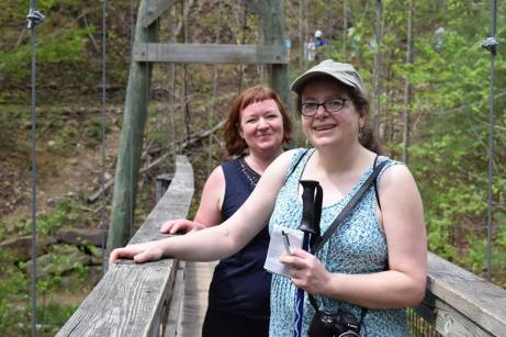 Mary and Cheryl at North River Gorge Trail by Rachael Baczynski.