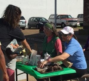 Sandy and Rachael working HMN outreach at Elkton Autumn Days. Photo by Elaine Smith.