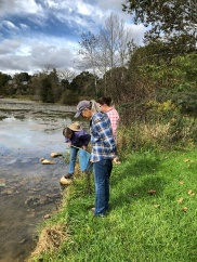 Exploring the shores of Lake Shenandoah.