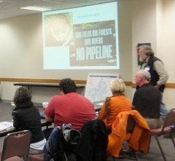 Rick Webb discussing the pipeline during the same class on October 18.