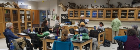 Classroom section of the training at the McKinney Science Center at Bridgewater College. Photo by Carl.