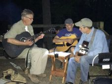 Burt, John, and Dave and their 3 guitars serenading us Friday night. Photo by Elizabeth Pass.