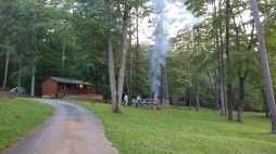 Sending out smoke signals from our camp area in Fairy Stone State Park.